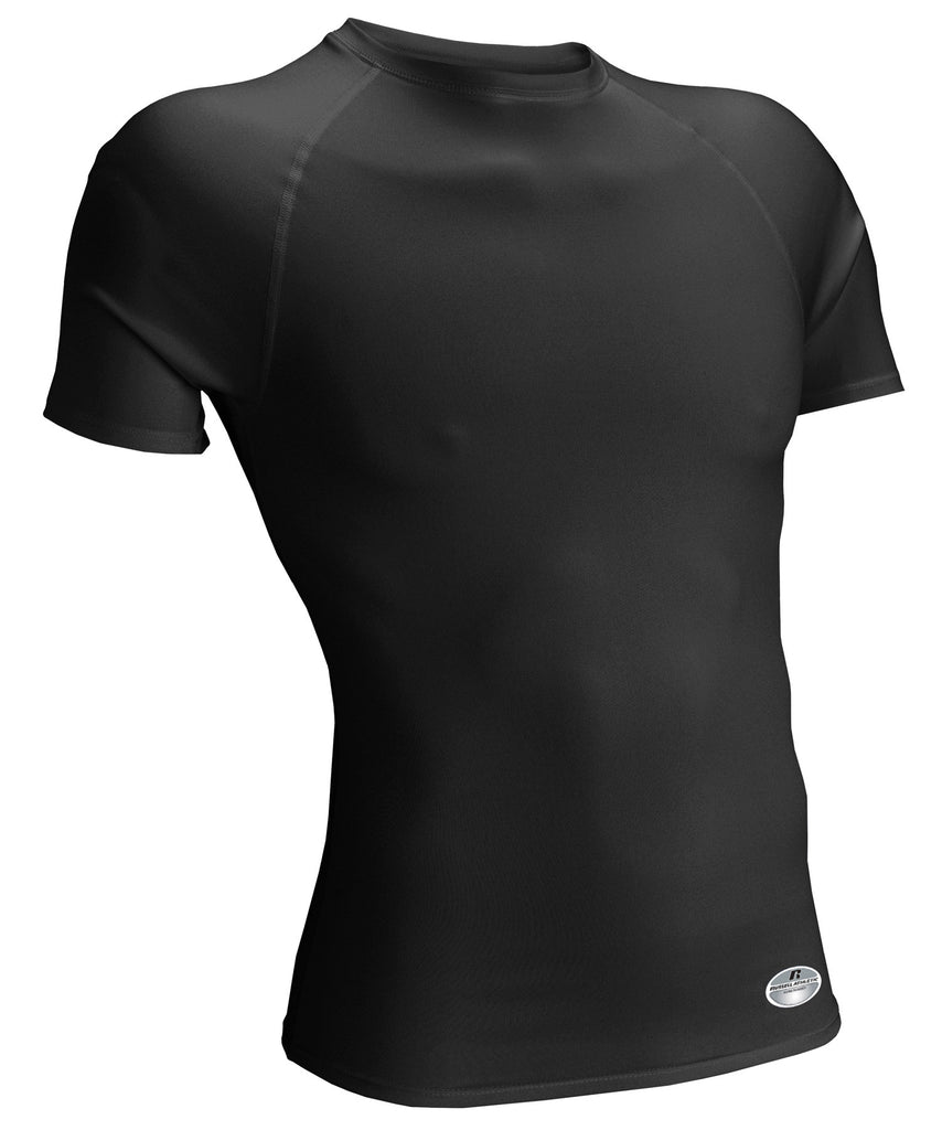 Russell Athletic Men's Performance Tight-Fit Short Sleeve Crew - Black Selected
