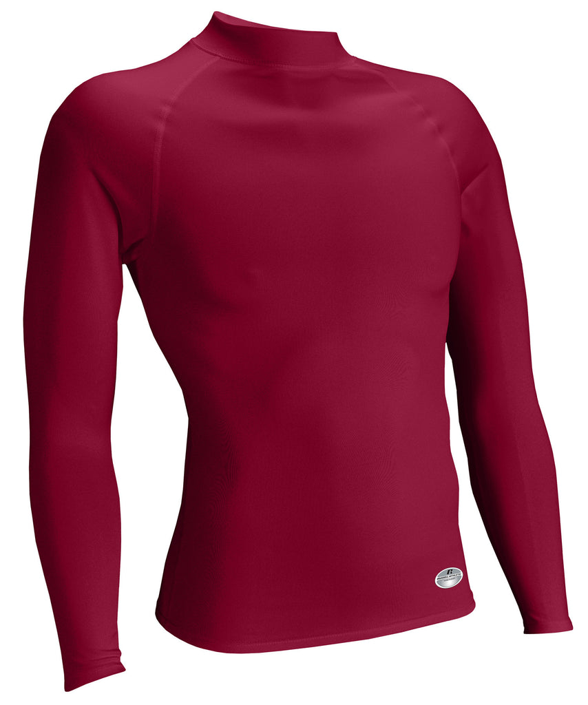 Russell Athletic Men's Performance Tight-Fit Long Sleeve Mock - Cardinal Selected