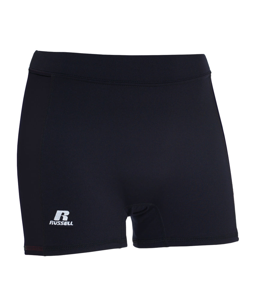 "Russell Athletic Women's 3"" Low Rise Tight Shorts - Black Selected"