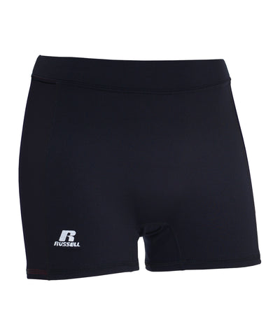 "Russell Athletic Women's 3"" Low Rise Tight Shorts - Black"