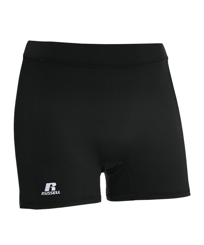 "Russell Athletic Women's 5"" Low Rise Tight Shorts - Black Selected"