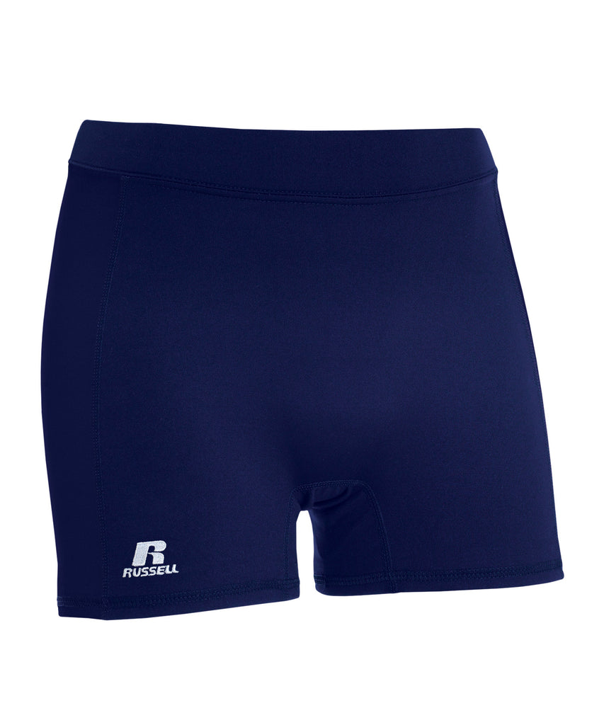 "Russell Athletic Women's 5"" Low Rise Tight Shorts - Navy Selected"