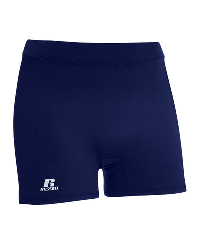"Russell Athletic Women's 5"" Low Rise Tight Shorts - Navy"