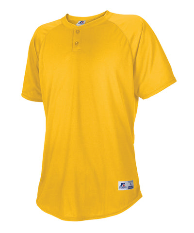 Russell Athletic Youth Two Button Placket Baseball Jersey - Gold