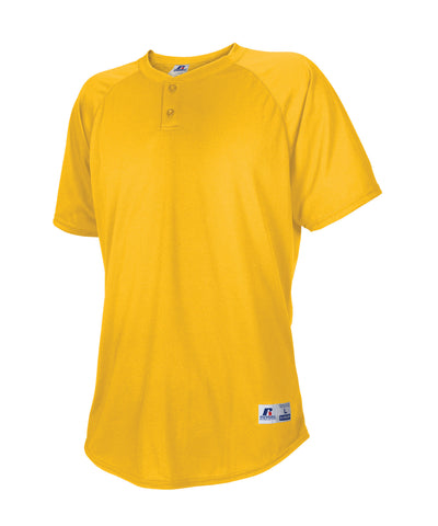 Russell Athletic Men's Two Button Placket Baseball Jersey - Gold
