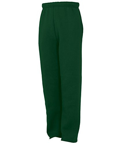 Russell Athletic Youth Fleece Pocketed Pant - Dark Green Selected