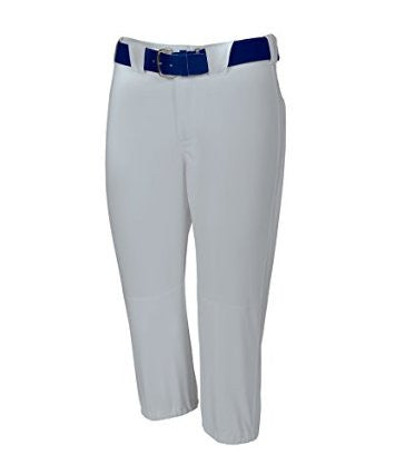 Russell Athletic Women's Low Rise Knicker Length Softball Pants - Baseball Grey