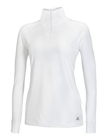Russell Athletic Women's Stretch Performance 1/4 Zip Pullover - White