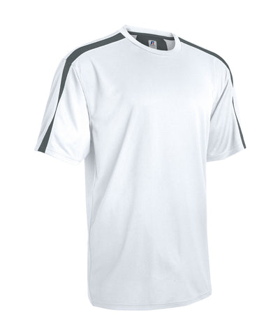 Russell Athletic Men's Dynasty Short Sleeve Shirt - White/Stealth