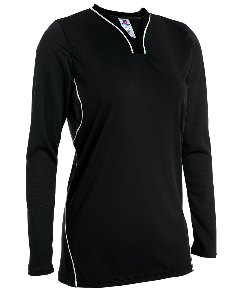 Russell Athletic Women's Athletic Form Fit Long Sleeve Shirt - Black Selected
