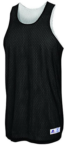 Russell Athletic Men's Reversible Basketball Practice Jersey - Black/White Selected