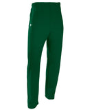 Russell Athletic Men's Dri-Power Open-Bottom Fleece Pocket Pants - Dark Green