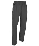 Russell Athletic Men's Dri-Power Open-Bottom Fleece Pocket Pants - Black Heather