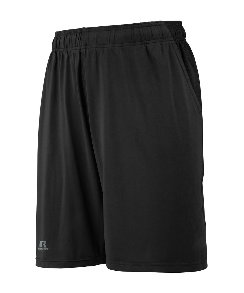 Russell Athletic Men's Pocketed Performance Shorts - Black Selected