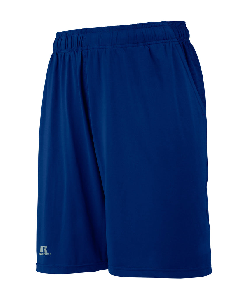 Russell Athletic Men's Pocketed Performance Shorts - Navy/Gridiron Silver Selected
