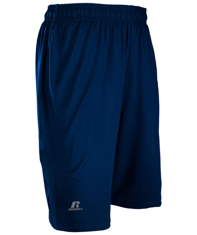 The Russell Athletic Men's Dri-Power Stretch Shorts move with you and feature moisture-wicking fabric.