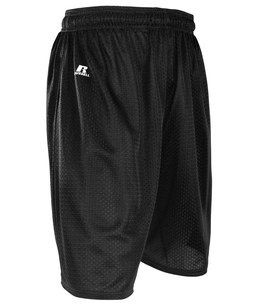 "Russell Athletic Men's 9"" Polyester Tricot Mesh Shorts - Black Selected"