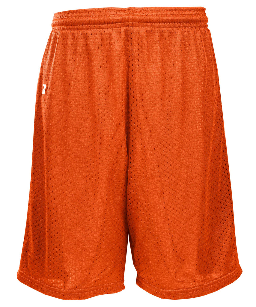 Russell Athletic Youth Polyester Tricot Mesh Shorts - Burnt Orange Selected