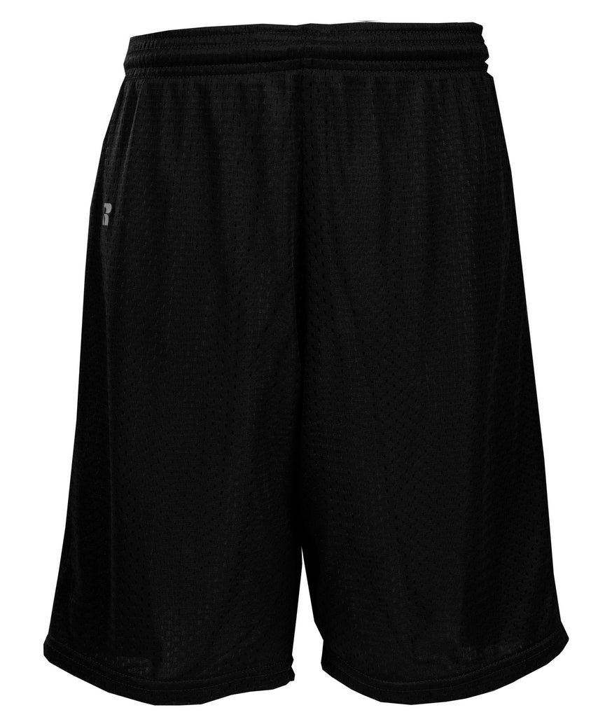 Russell Athletic Youth Polyester Tricot Mesh Shorts - Black Selected