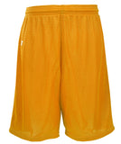 Russell Athletic Youth Polyester Tricot Mesh Shorts - Gold