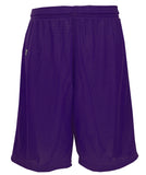 Russell Athletic Youth Polyester Tricot Mesh Shorts - Purple