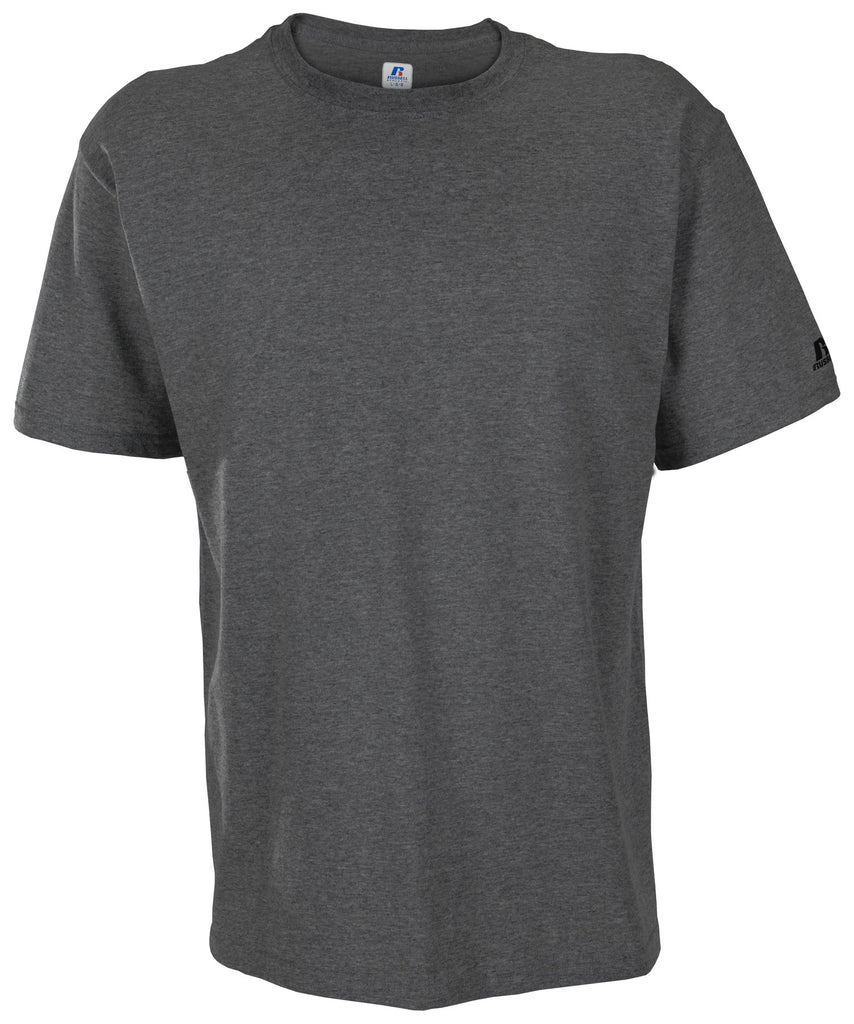 Russell Athletic Men's Athletic Crew Neck Tee - Black Heather Selected