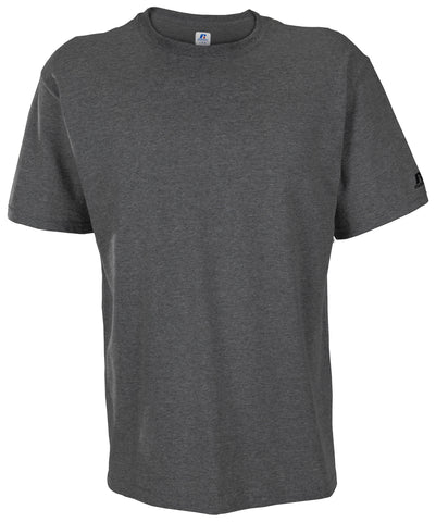 The Russell Athletic Men's Crew Neck Tee is the must-have staple for your wardrobe. This T-shirt is 100% cotton with a ribbed crew neck.