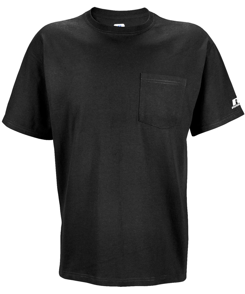 Russell Athletic Men's Athletic Pocket Tee - Black Selected