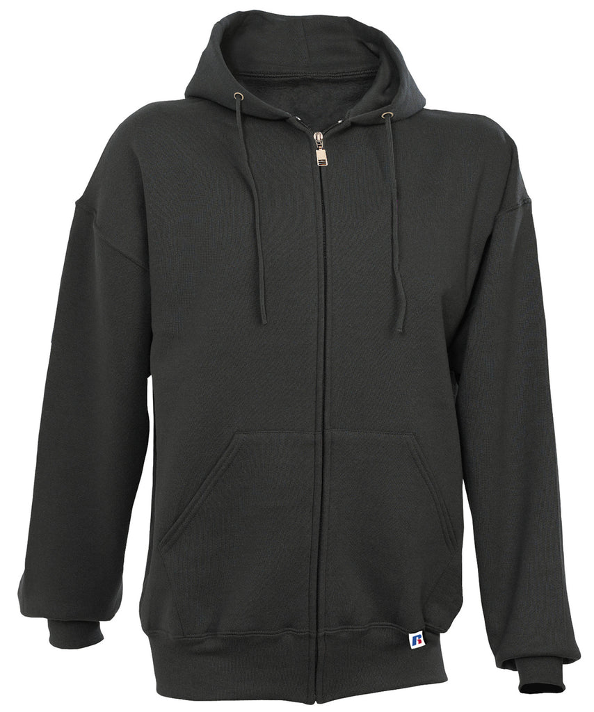 Russell Athletic Men's Dri-Power Fleece Full Zip Hoodie - Black
