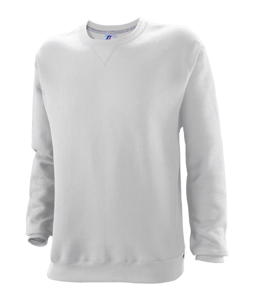 Russell Athletic Mens Dri-Power Fleece Crew - Ash Selected