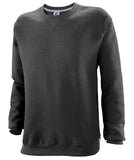 Russell Athletic Mens Dri-Power Fleece Crew - Black Heather