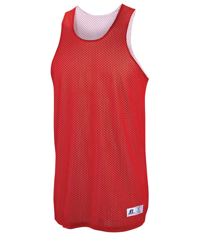 Russell Athletic Men's Reversible Basketball Practice Jersey - True Red/White