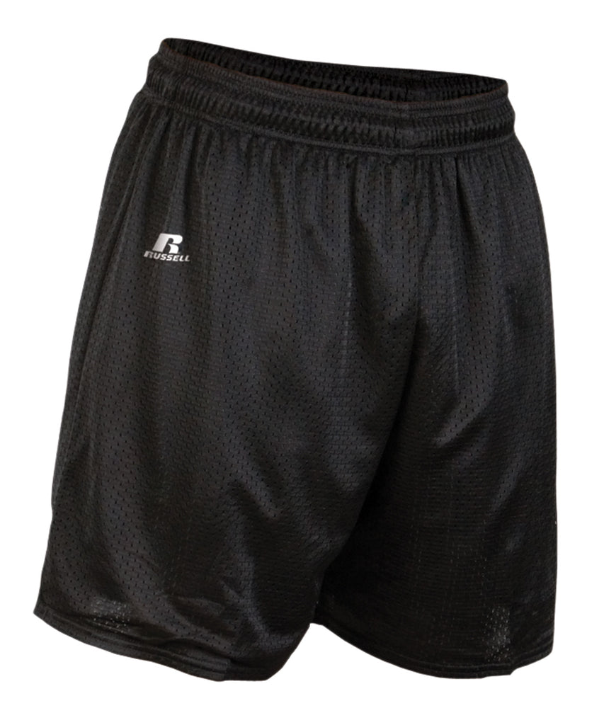 "Russell Athletic Men's 7"" Tricot Mesh Shorts - Black Selected"