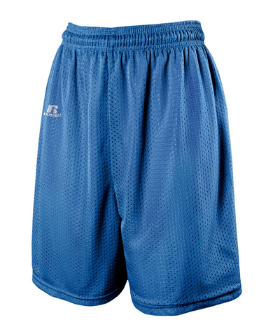 "The Russell Athletic Men's 7"" Tricot Mesh Shorts are perfect for working out. These shorts have a drawsting waist and a lightweight liner. Available in sizes S-3XL."