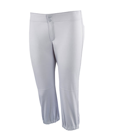 Russell Athletic Girls' Low Rise Knicker Length Softball Pants - Baseball Grey