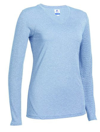Russell Athletic Women's Long Sleeve Performance Tee - Blue Selected