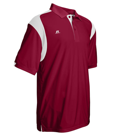 Russell Athletic Men's Gameday Polo - Cardinal/White