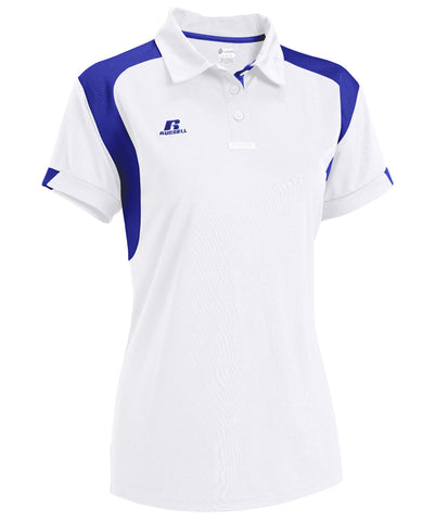 Russell Athletic Women's Gameday Polo - White/Royal