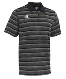 Russell Athletic Men's Striped Golf Polo - Black