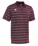 Russell Athletic Men's Striped Golf Polo - Cardinal