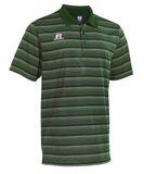 Russell Athletic Men's Striped Golf Polo - Dark Green