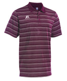Russell Athletic Men's Striped Golf Polo - Maroon