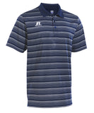 Russell Athletic Men's Striped Golf Polo - Navy