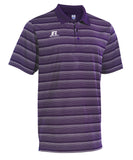 Russell Athletic Men's Striped Golf Polo - Purple