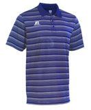 Russell Athletic Men's Striped Golf Polo - Royal