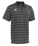 Russell Athletic Men's Striped Golf Polo - Grey