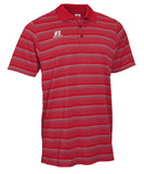 Russell Athletic Men's Striped Golf Polo - Red