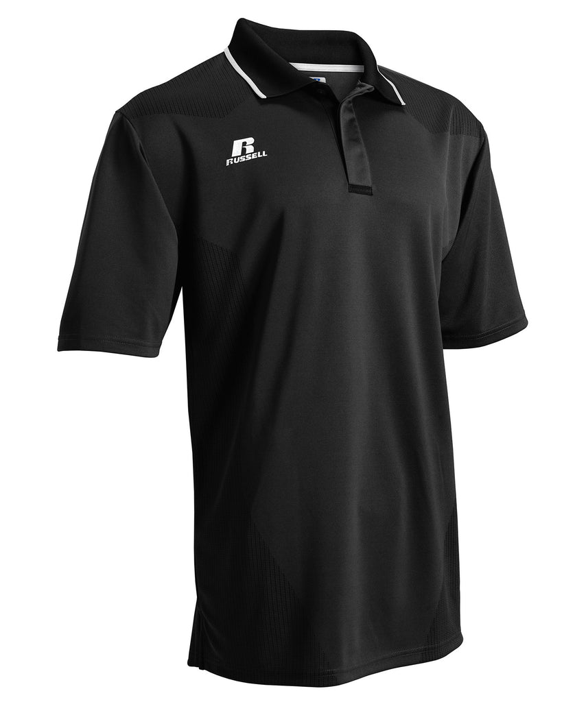 Russell Athletic Men's Dynasty Golf Polo - Black Selected