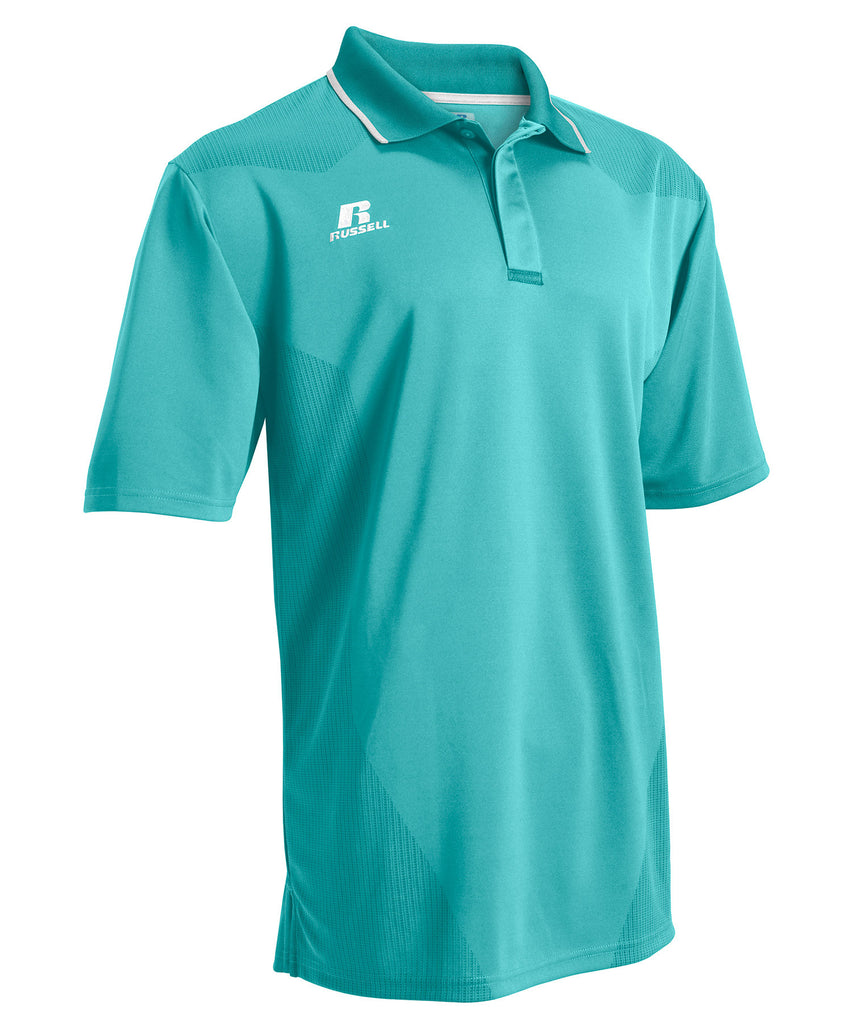 Russell Athletic Men's Dynasty Golf Polo - Aquamarine Selected