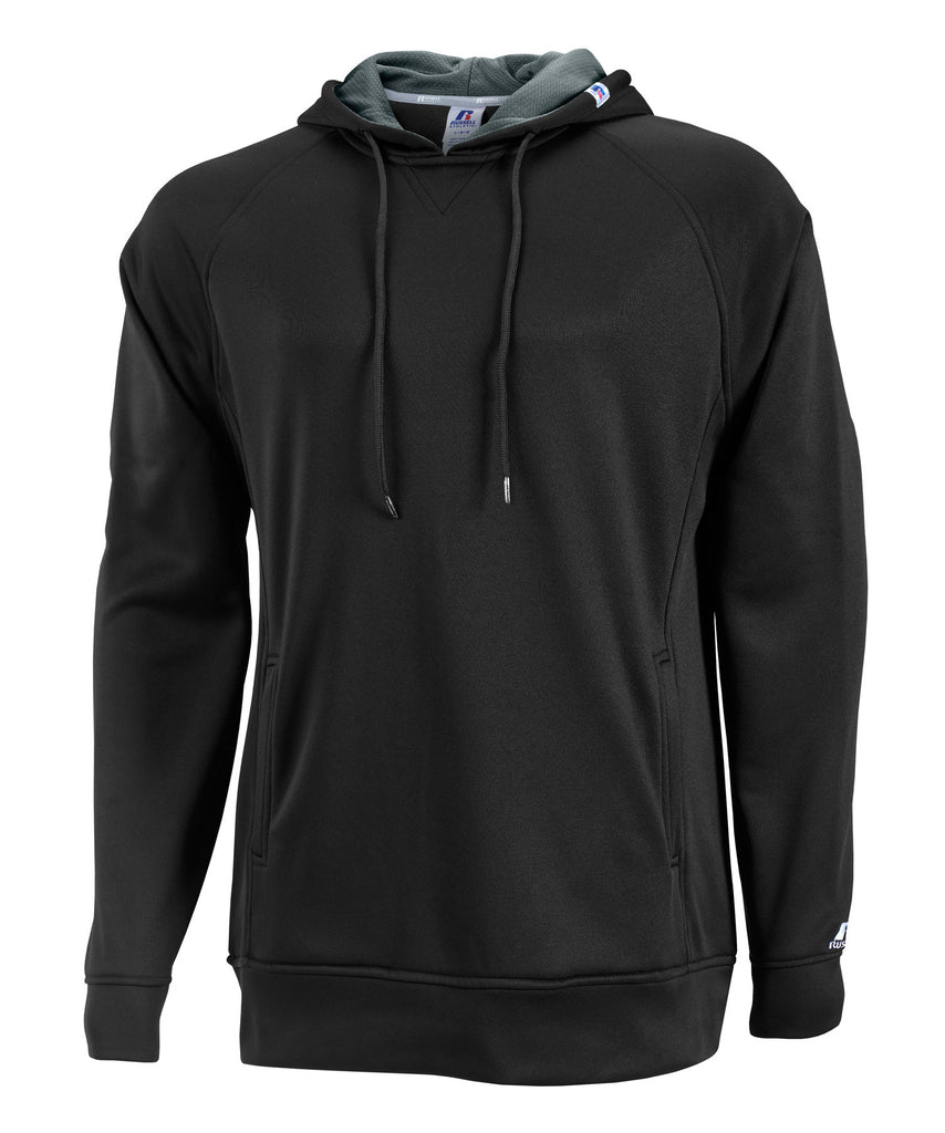 Russell Athletic Men's Tech Performance Fleece Hood - Black/Stealth Selected
